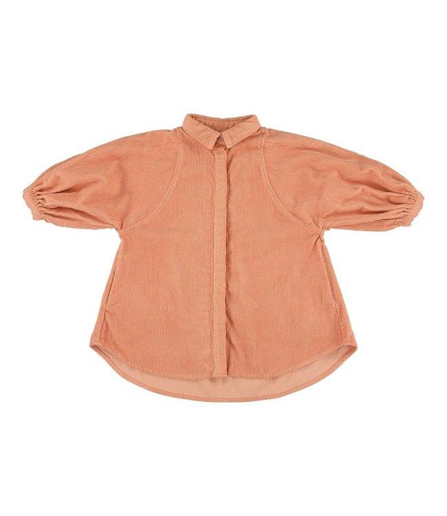 Morley roos ribfluwelen hemdskleedje