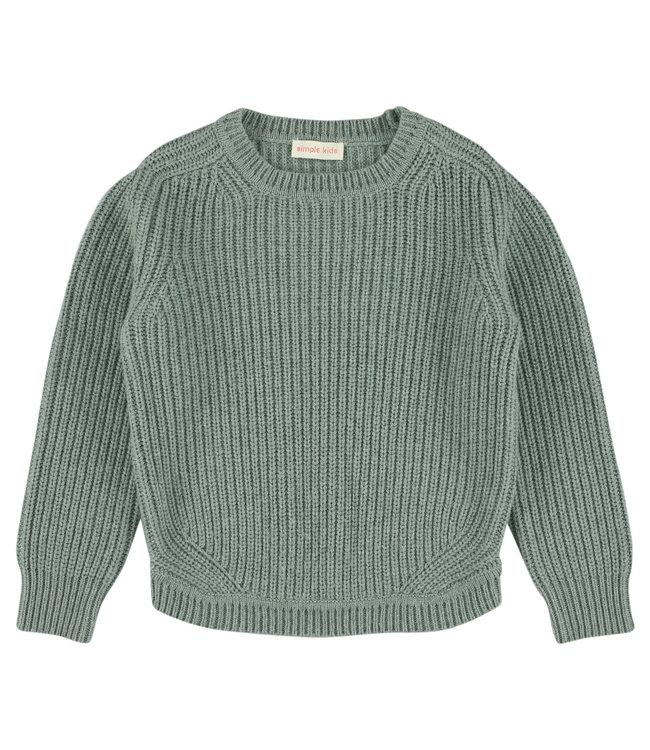 Simple Kids mint groene trui