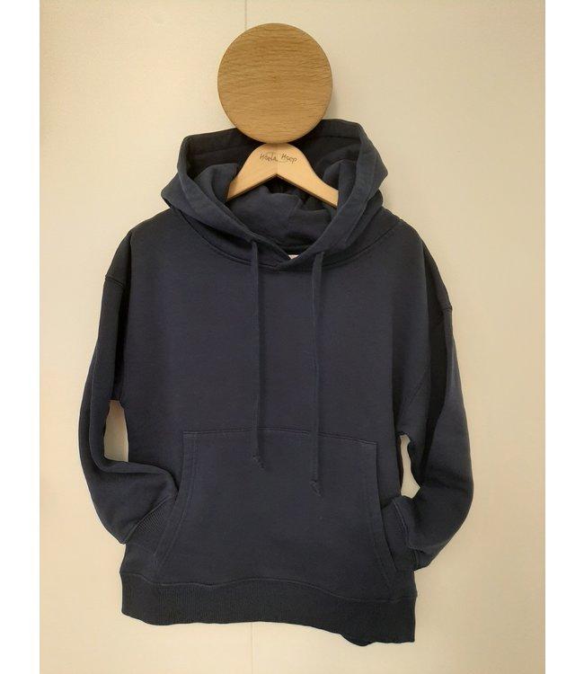 Maan donker blauwe hoodie