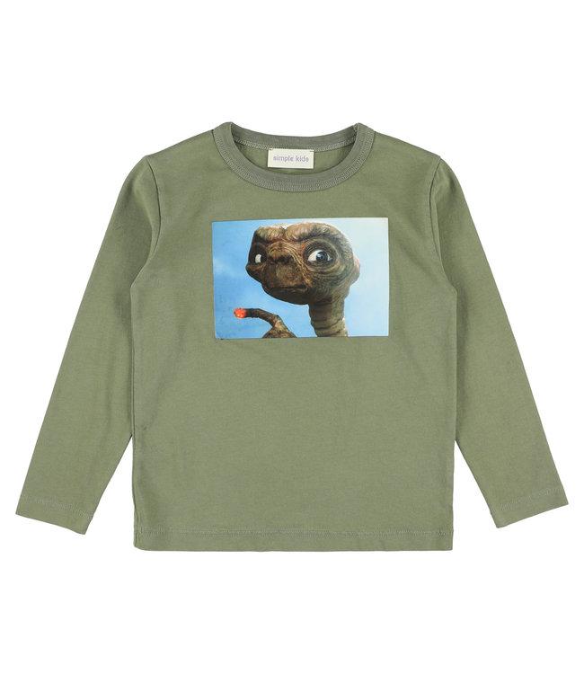 Simple Kids kaki groene T-shirt
