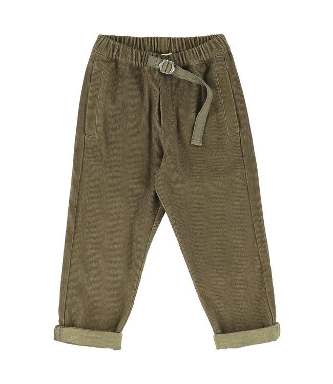 Simple Kids kaki groene broek