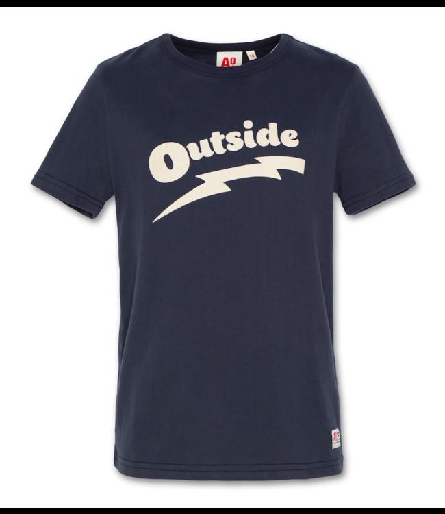 Ao76 blauwe T-shirt met korte mouwen