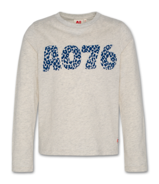 Ao76 Ao76 grijze T-shirt met lange mouwen