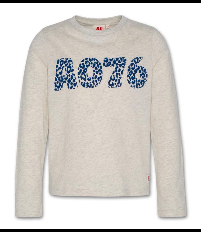 Ao76 grijze T-shirt met lange mouwen