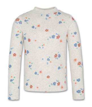 Ao76 Ao76 grijze T-shirt met bloemenprint