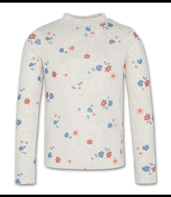Ao76 grijze T-shirt met bloemenprint