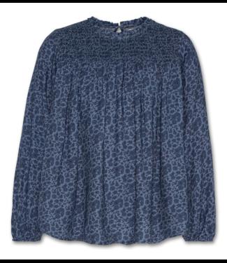 Ao76 Ao76 geprint blauw bloesje