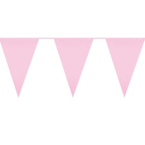 Licht roze jumbo vlaggenlijn