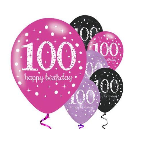 100 jaar ballonnen roze
