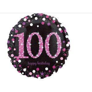 100 jaar ballon roze