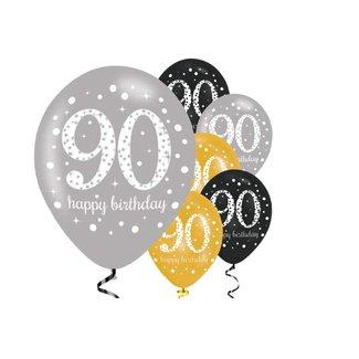 90 jaar ballonnen goud