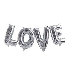L O V E letter slinger zilver