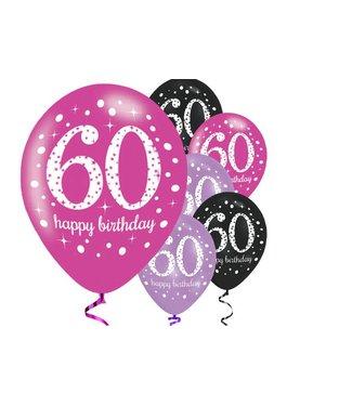 60 jaar ballonnen roze