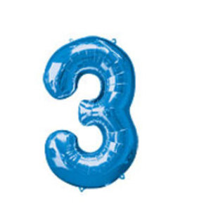 Cijfer ballon XL blauw