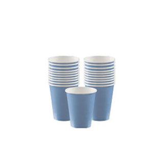 Licht blauwe koffie bekers