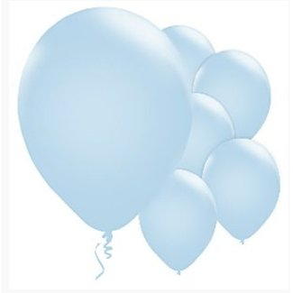 Licht blauwe ballonnen