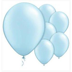 Pastel licht blauwe ballonnen