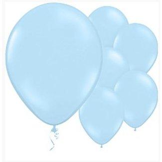 Licht blauwe ballonnen XL