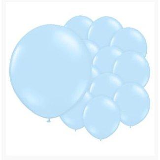 Licht blauwe ballonnen XL set