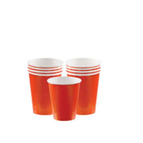 Oranje koffie bekers