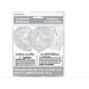 Confetti ballonnen zilver
