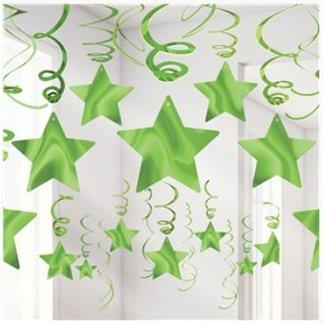 Lime groen sterren slingers
