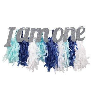 I am one pastel slinger blauw