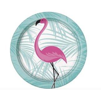 Flamingo gebaksbordjes