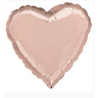Rose goud hart ballon