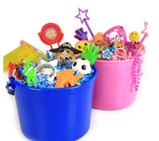 Plastic emmertjes voor op tafel of om leuk te vullen als bedankje