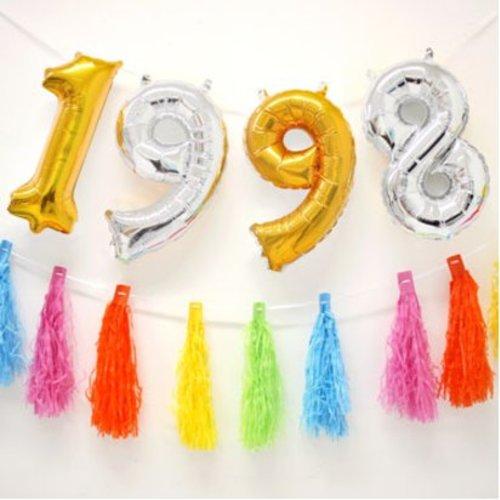 Cijfer ballonnen vindt je in vele kleuren en maten hier in de online feestwinkel van J-style-deco.nl
