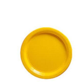Gele gebaksborden