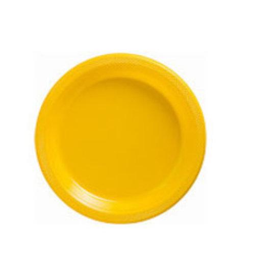 Gele borden plastic