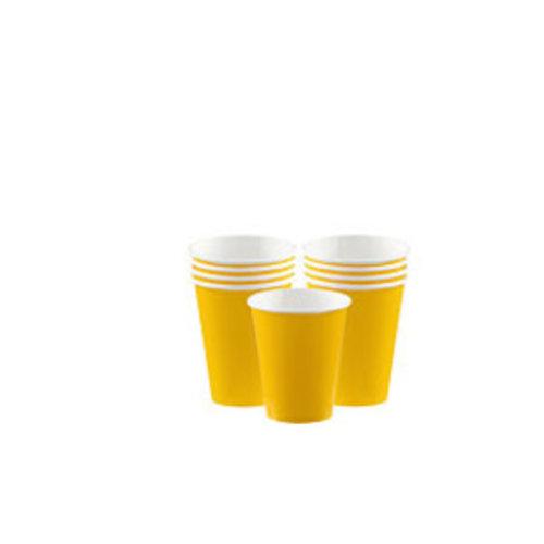 Gele koffie bekers