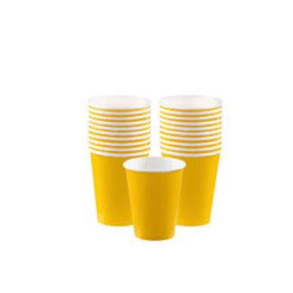 Gele koffie bekers M