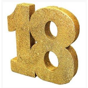 18 jaar tafel decoratie glitter goud