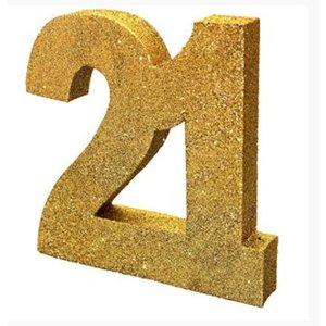 21 jaar tafel decoratie glitter goud