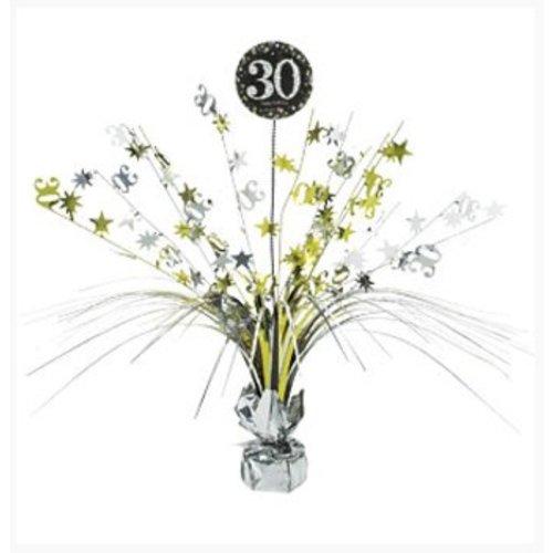 30 jaar tafel decoratie goud - zwart