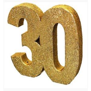 30 jaar tafel versiering goud glitters