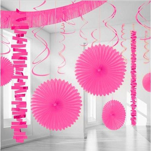 Hard roze versiering pakket