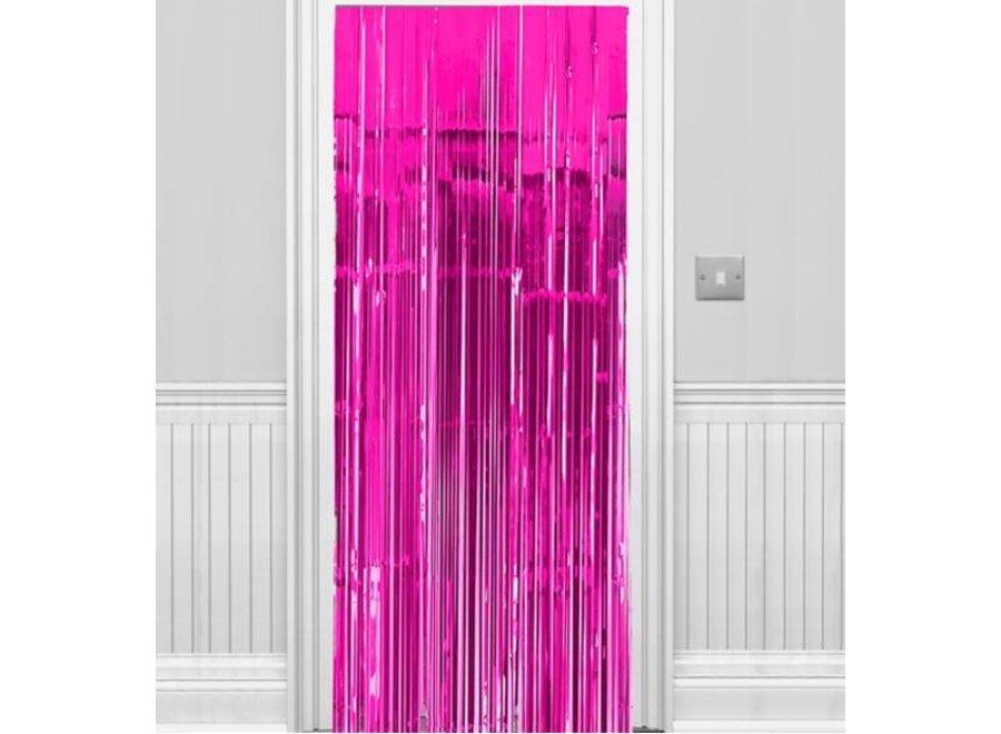 Hard roze deur gordijn