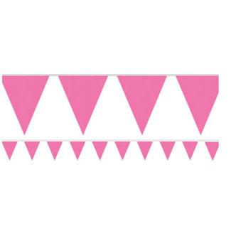 Hard roze vlaggetjes