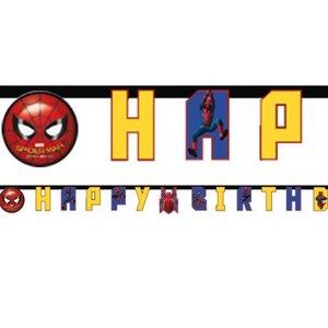 Spiderman happy birthday slinger geel