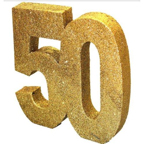 50 jaar glitter tafel versiering