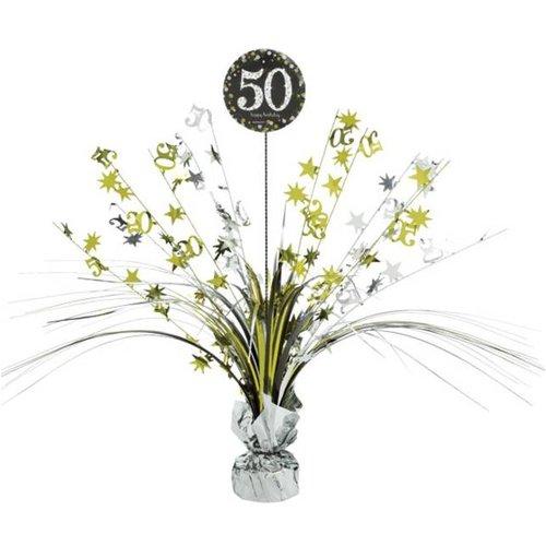 50 jaar tafel versiering goud