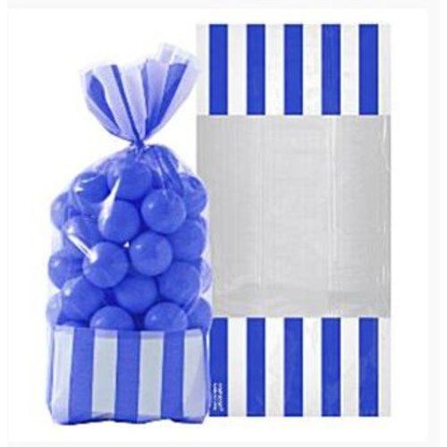 Candy buffet zakjes donker blauw