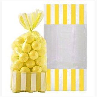 Candy buffet zakjes geel