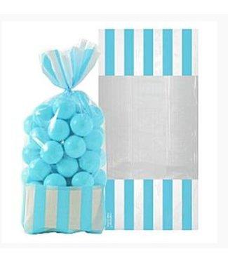 Candy buffet zakjes baby blauw