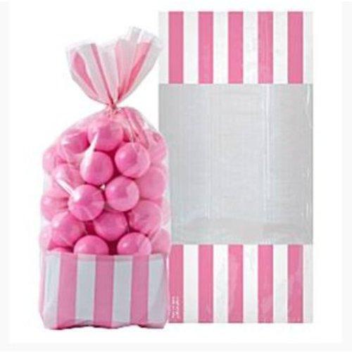 Candy buffet snoepzakjes licht roze