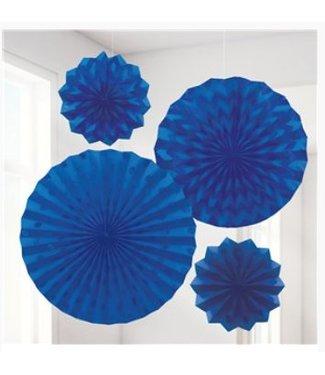 Amscan  Waaiers donker blauw